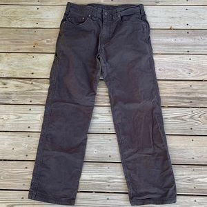 Prana Bronson Pants. Charcoal. 34